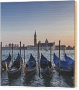 Venice - Sunset Wood Print