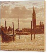 Venice V Wood Print