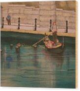 Venice Via Providence Wood Print
