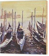 Venice Watercolor- Italy Wood Print