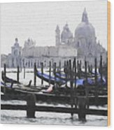 Venice Waterfront Wood Print
