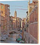 Venice Waterway Wood Print