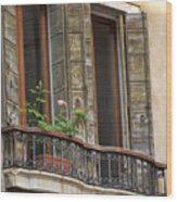 Venice Windows And Shutters Wood Print
