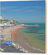 Ventnor Beach And Seafront Wood Print