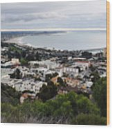 Ventura Coast Skyline Wood Print