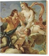 Venus And Adonis  Wood Print by Charles Joseph Natoire