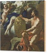Venus At The Forge Of Vulcan Wood Print