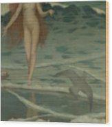 Venus Born Of The Sea Foam  The Birth Of Venus, Detail Wood Print