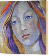 Venus In Iridescents Wood Print
