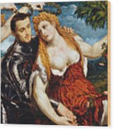 Venus, Mars & Cupid Wood Print