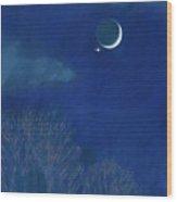 Venus Moon Conjunction Wood Print