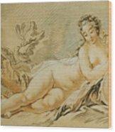 Venus Resting Wood Print