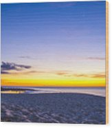 Venus Setting Above Keiki Beach At Dusk Wood Print