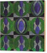 Verdant Pattern Wood Print