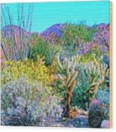 Verdant Spring Mohave Desert Wood Print
