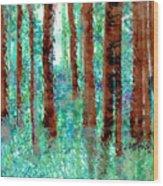 Verdant Vistas Wood Print