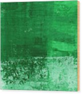 Verde-  Contemporary Abstract Art Wood Print