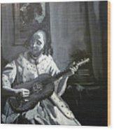 Vermeer Guitar Player Wood Print