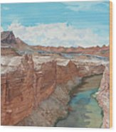 Vermilion Cliffs Standing Guard Over The Colorado Wood Print