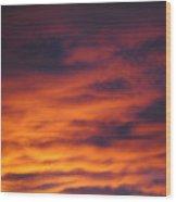 Vermillion Sky Wood Print