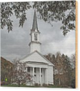 Vermont Church Wood Print