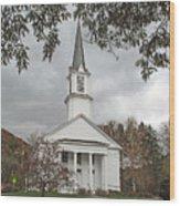 Vermont Church Wood Print