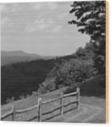 Vermont Countryside 2006 Bw Wood Print