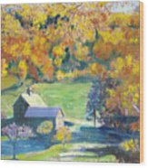 Vermont Farm Wood Print by Lyn Vic