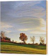 Vermont Hilltop Sunrise Wood Print