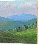 Vermont Pastures Wood Print