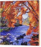 Vermont River Wood Print