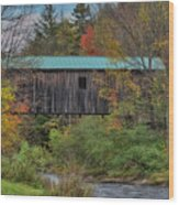 Vermont Rural Autumn Beauty Wood Print