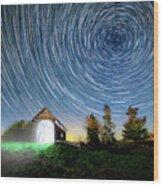 Vermont Starry Night Wood Print