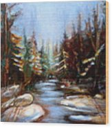 Vermont Stream Wood Print