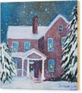 Vermont Studio Center In Winter Wood Print