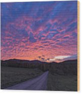 Vermont Sunset Wood Print