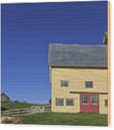 Vermont Yellow Barn 8x10 Ratio Wood Print