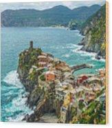 Vernazza, Cinque Terre, Liguria, Italy Wood Print