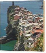 Vernazza Italy Wood Print