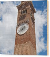 Verona Italy - Beautiful Torre Dei Lamberti Wood Print