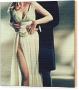 Veronica Carlson And Peter Cushing Wood Print