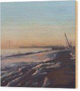 Verrazano Bridge And The Narrows Wood Print