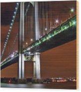 Verrazano Bridge Wood Print