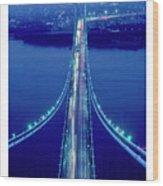Verrazano Bridge, Ny Wood Print