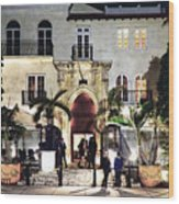 Versace Mansion South Beach Wood Print