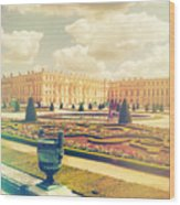 Versailles Gardens And Palace In Shabby Chic Style Wood Print