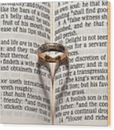 Verse 22 Wood Print