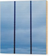 Vertical Cables Wood Print