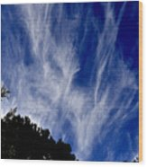 Vertical Clouds Wood Print