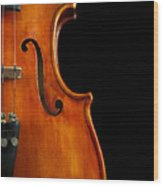 Vertical Violin Art Wood Print